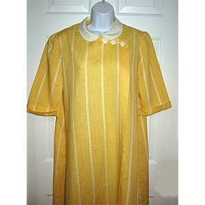 Vtg 70s Sunshine Yellow Shift Dress by Puccini L